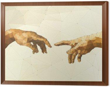 Tavla i Ram Abstrakt Guds hand vektor
