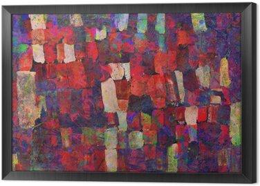 Tavla i Ram Abstrakt konst målning