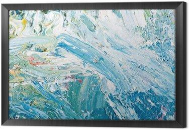 Tavla i Ram Abstrakt konstverk bakgrund målning