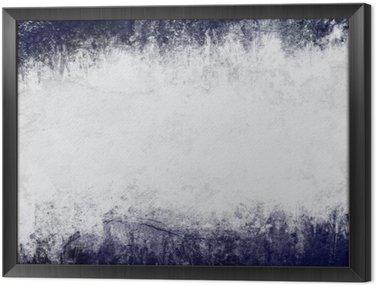 Tavla i Ram Abstrakt målade bakgrund i mörkblått och vitt med tomt utrymme för text