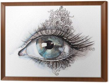 Tavla i Ram Abstrakt öga (serie C)