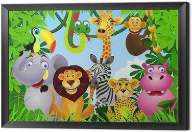Tavla i Ram Animal tecknad