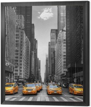 Tavla i Ram Avenue med taxi i New York.