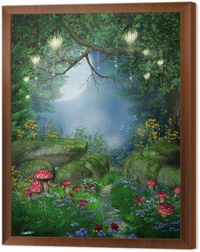 Tavla i Ram Bana i skogen med lykta