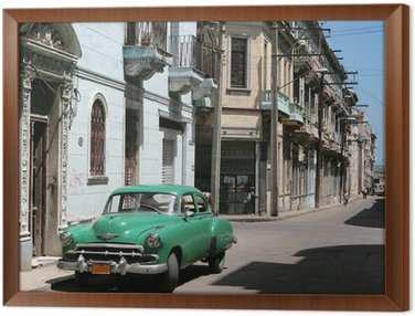 Tavla i Ram Bilen är parkerad i gamla Havanna centrum