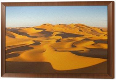 Tavla i Ram Desert Panorama - Sanddyner - Murzuq öknen, Sahara, Libyen