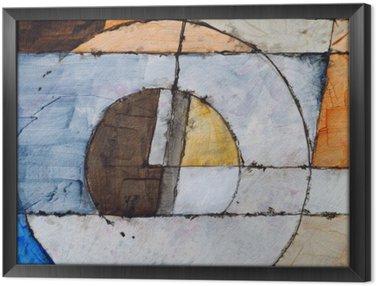 Tavla i Ram En abstrakt målning