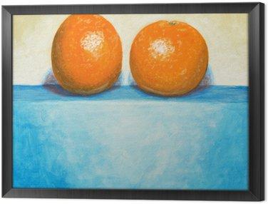 Tavla i Ram En målning av två apelsiner