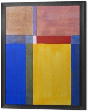 Tavla i Ram En minimalistisk abstrakt målning