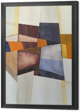 Tavla i Ram En modernistisk abstrakt vattenfärg