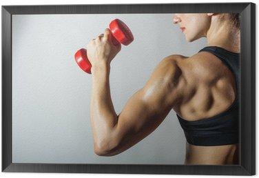 Tavla i Ram Fitness kvinna