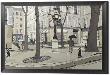 Tavla i Ram Furstemberg torg i Paris