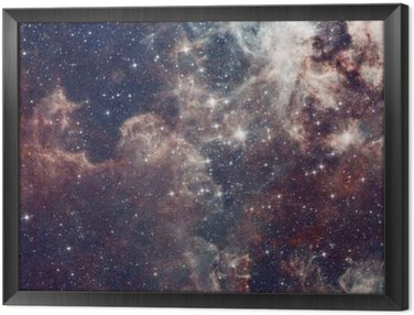 Tavla i Ram Galaxy illustration, utrymme bakgrund med stjärnor, nebulosa, kosmos moln