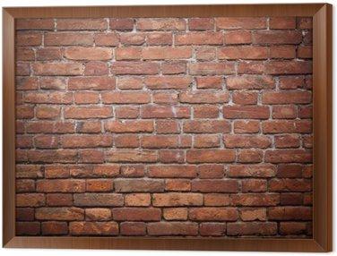 Tavla i Ram Gamla grunge röda tegel vägg konsistens