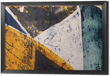 Tavla i Ram Geometri, varm batik, bakgrund textur, handgjorda på siden, abstrakt surrealismkonst