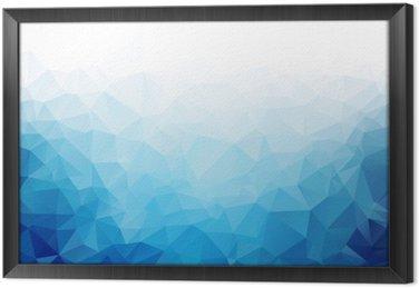 Tavla i Ram Geometrisk blå is konsistens bakgrund