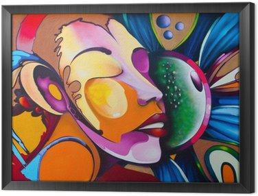 Tavla i Ram Graffiti ansikte