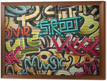 Tavla i Ram Graffiti bakgrund