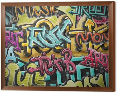 Tavla i Ram Graffiti grunge bakgrund