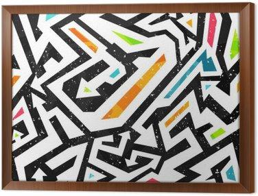 Tavla i Ram Graffiti - seamless