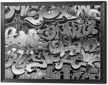 Tavla i Ram Graffiti sömlös bakgrund. Urban konst konsistens