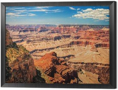 Tavla i Ram Grand Canyon solig dag med blå himmel