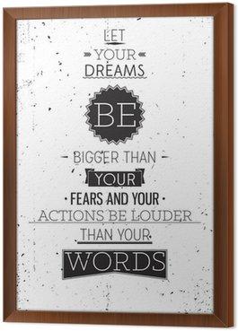 Tavla i Ram Grunge retrostil motivational affisch med typografi