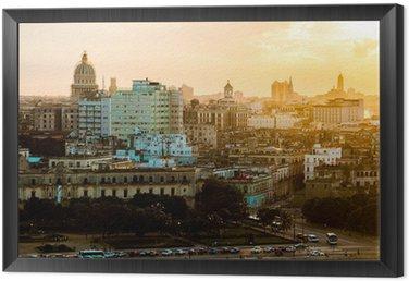 Tavla i Ram Havana (Habana) i solnedgång, Kuba