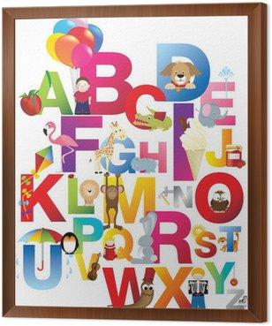 Tavla i Ram Illustration av barns alfabetet