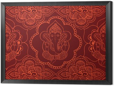 Tavla i Ram Indisk seamless prydnad