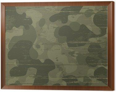 Tavla i Ram Kamouflage militär bakgrund. Vektor, Illustration, EPS10