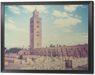 Tavla i Ram Koutoubia i Marrakesh, Marocko