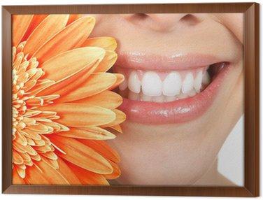 Tavla i Ram Kvinna tänder