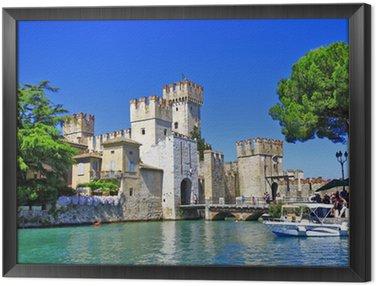 Tavla i Ram Landskap av Italien-serien - Sirmione. Lago di Garda