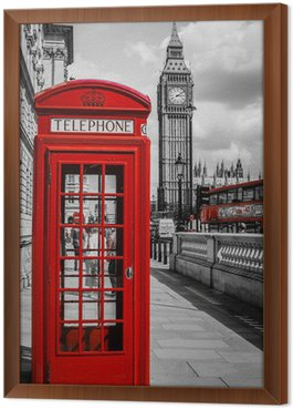 Tavla i Ram London Phone Booth
