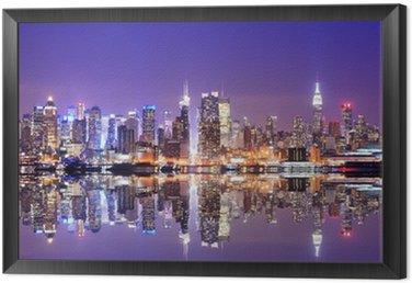 Tavla i Ram Manhattan Skyline med Reflections