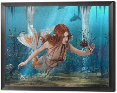 Tavla i Ram Mermaid innehar Sea Lily