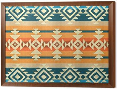 Tavla i Ram Navajo stil geometrisk seamless