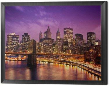 Tavla i Ram New York Manhattan Pont de Brooklyn