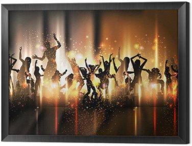 Tavla i Ram Party Sound bakgrund Illustration med dansande människor