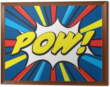 Tavla i Ram POW! Pop Art