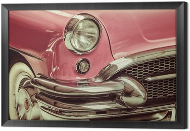 Tavla i Ram Retro stil bild av en framför en klassisk bil