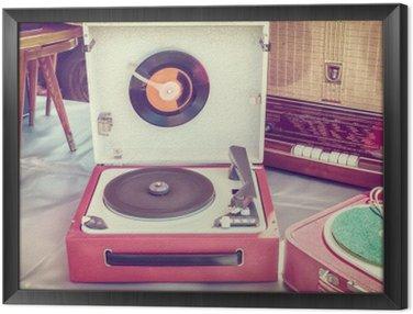 Tavla i Ram Retro stil bild av en gammal skivspelare