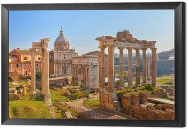 Tavla i Ram Romerska ruiner i Rom, Forum