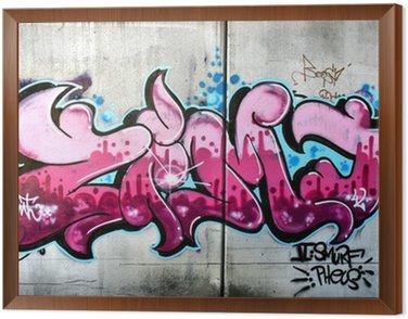 Tavla i Ram Rosa graffiti i Salzburg, Österrike. Urban konst eller vandalism.
