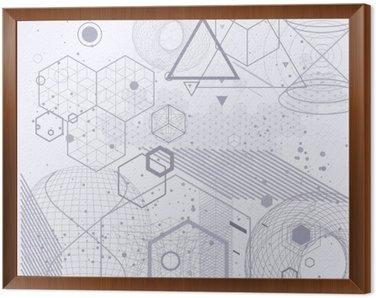 Tavla i Ram Sakral geometri symboler och element bakgrund. Kosmiskt, universum, bing bang, alkemi, religion, filosofi, astrologi, vetenskap, fysik, kemi och andlighet teman.