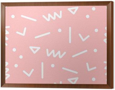 Tavla i Ram Seamless geometriskt mönster