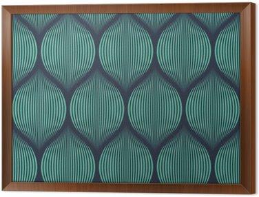 Tavla i Ram Seamless neon blå optisk illusion vävda mönster vektor