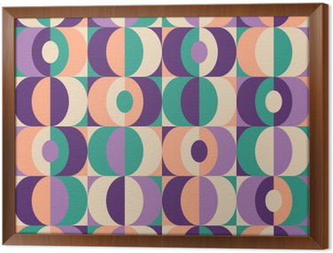 Tavla i Ram Seamless tappning geometriskt mönster