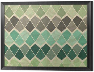 Tavla i Ram Sömlös retro geometriska mönster.